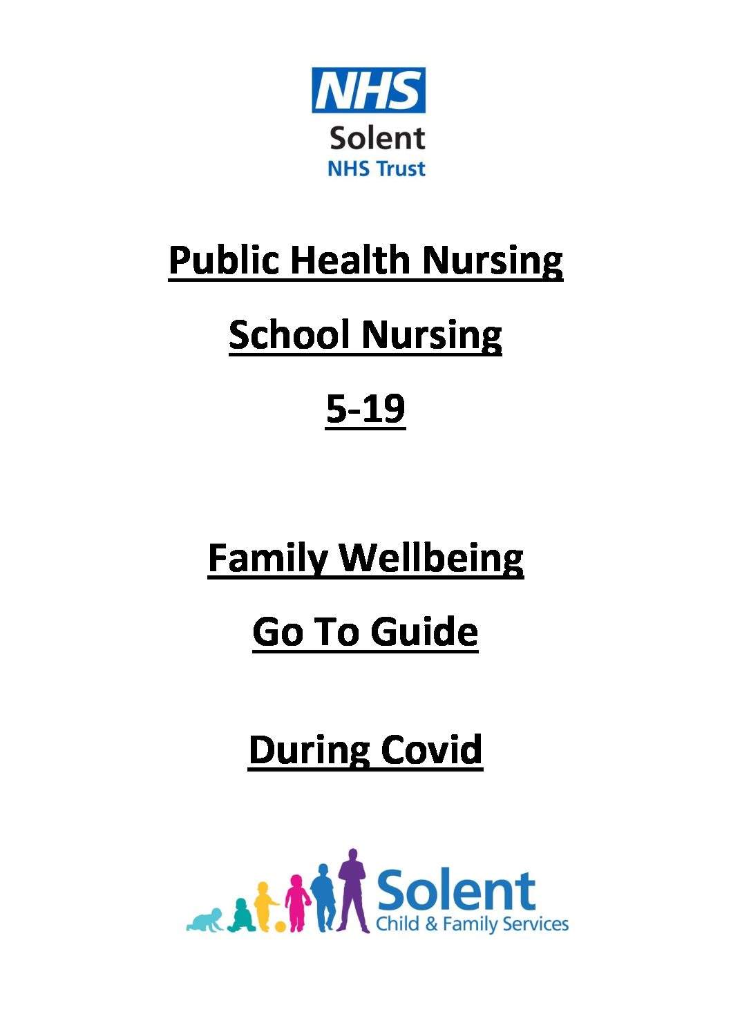 Solent NHS Trust – Family Wellbeing Go to Guide